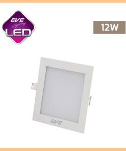 ดาวน์ไลท์ LED 12w สี่เหลี่ยม Slim EVE