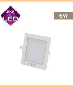 ดาวน์ไลท์ LED 6w สี่เหลี่ยม Slim EVE