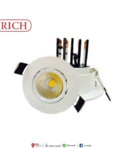 ดาวน์ไลท์ LED COB 5W (วอร์มไวท์) RICH
