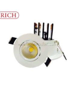 ดาวน์ไลท์ LED COB 7W (วอร์มไวท์) RICH
