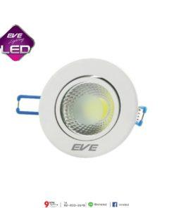 ดาวน์ไลท์ LED COB หน้ากลม 5w (วอร์มไวท์) EVE