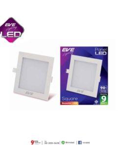 ดาวน์ไลท์ LED สี่เหลี่ยม 9W (วอร์มไวท์) EVE