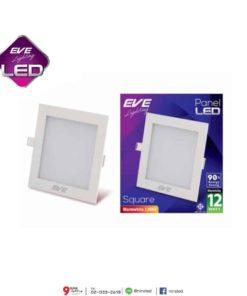 ดาวน์ไลท์ LED สี่เหลี่ยม 12W (วอร์มไวท์) EVE