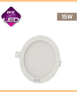 ดาวน์ไลท์ LED หน้ากลม 15w Slim EVE