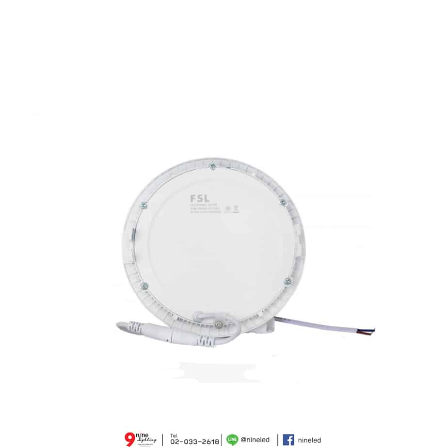 ดาวน์ไลท์ LED 12W หน้ากลม (วอร์มไวท์) FSL