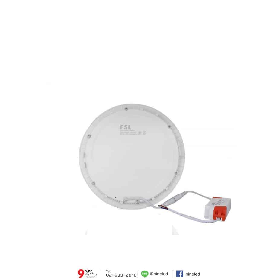 ดาวน์ไลท์ LED 18W หน้ากลม (วอร์มไวท์) FSL