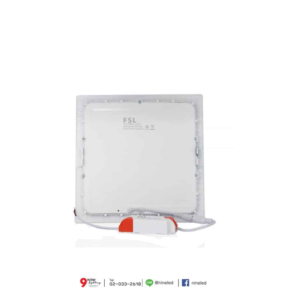 ดาวน์ไลท์ LED 18W หน้าเหลี่ยม (วอร์มไวท์) FSL