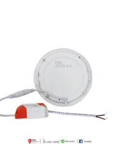 ดาวน์ไลท์ LED 9W หน้ากลม (วอร์มไวท์) FSL
