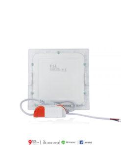 ดาวน์ไลท์ LED 9W หน้าเหลี่ยม (วอร์มไวท์) FSL