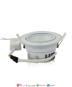ดาวน์ไลท์ LED COB 8W (วอร์มไวท์) IWACHI