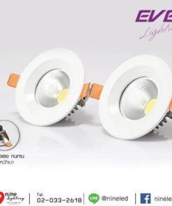 ดาวน์ไลท์ LED 5w รุ่น COB MINI วอร์มไวท์ (EVE)