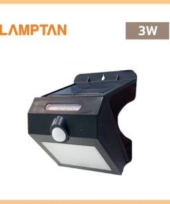 โคมไฟติดผนังภายนอก 3W LAMPTAN SOLAR SMART SENSOR TWIST