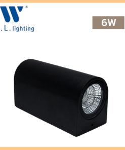 โคมไฟติดผนังภายนอก LED WLLIGHTING รุ่น WL-B11-2-6W-BK